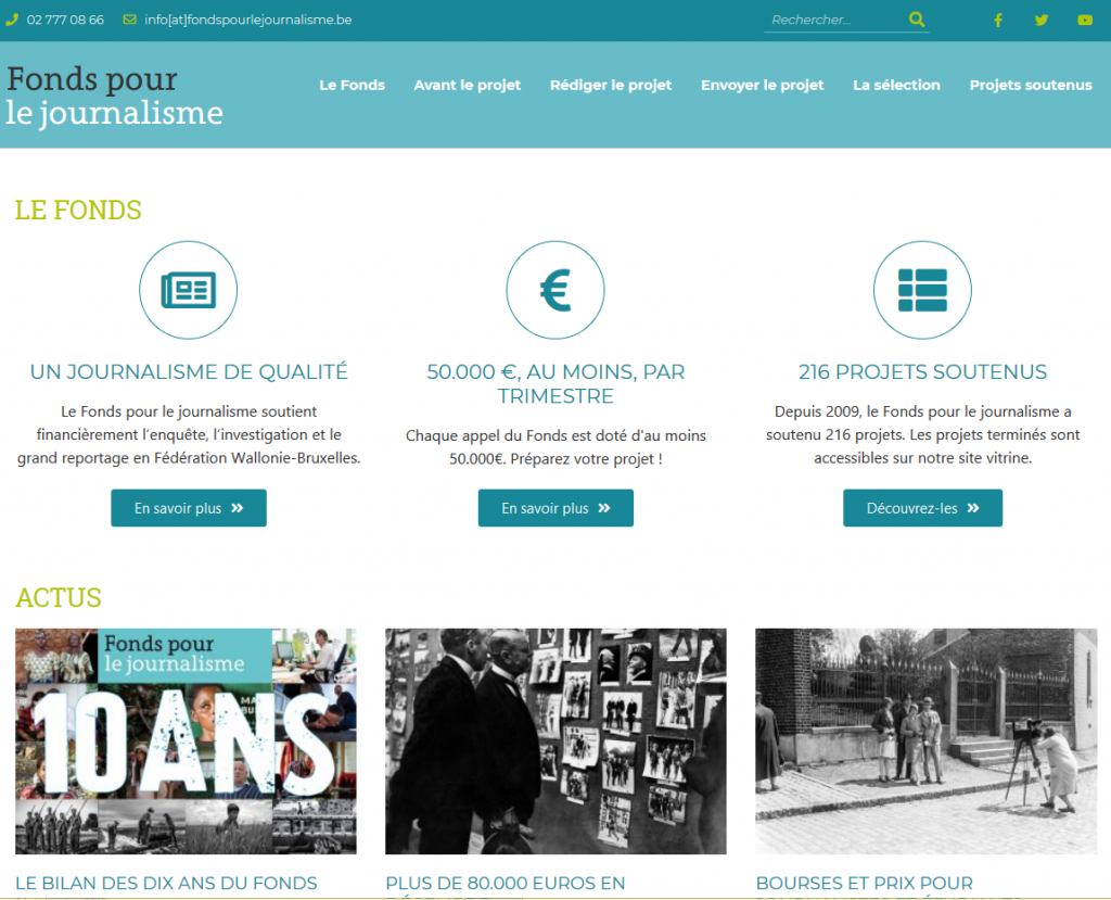 Le nouveau site du Fonds